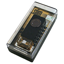 "SLMV-151 Ароматизатор на дефлектор "".SLIM"" кожа и дерево"